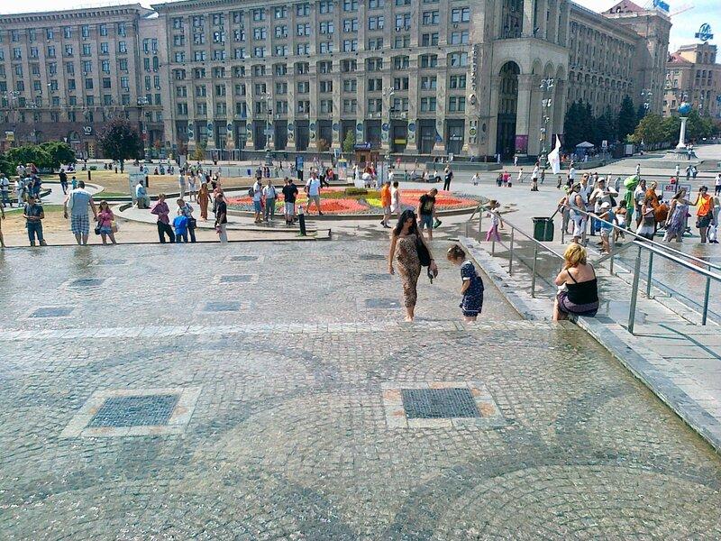 Каскад в центре Киева