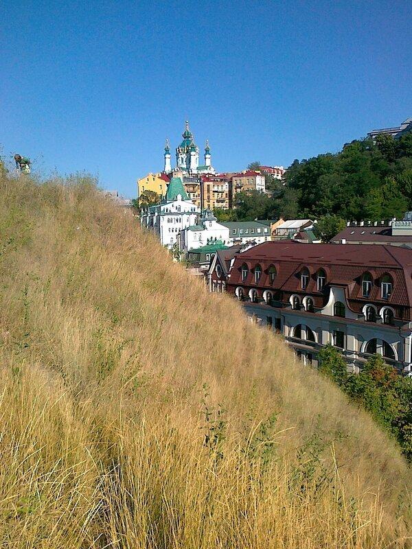 Вид с Хоривицы на Андреевскую церковь