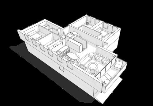 План первого этажа жилого дома на 350кв.м