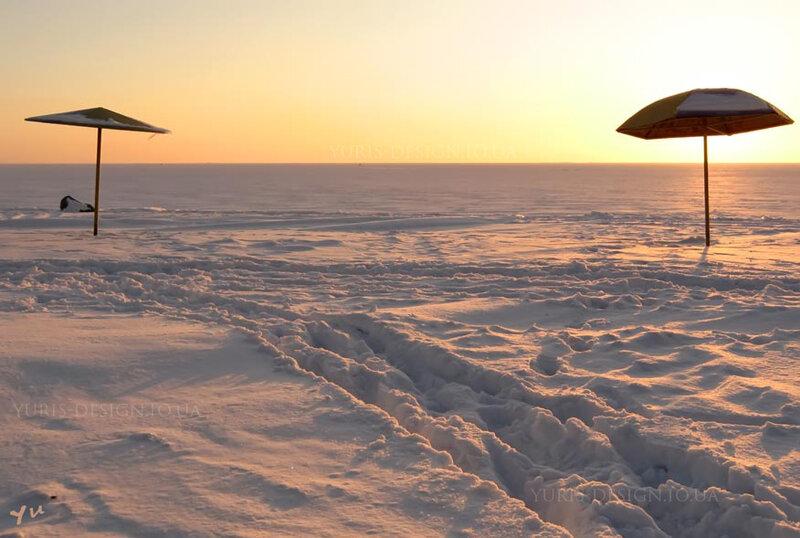 Зимний пляж Бердянск