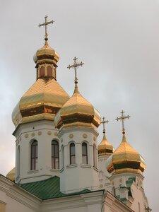 Купола Спасо-Преображенского собора в Кузнецовске