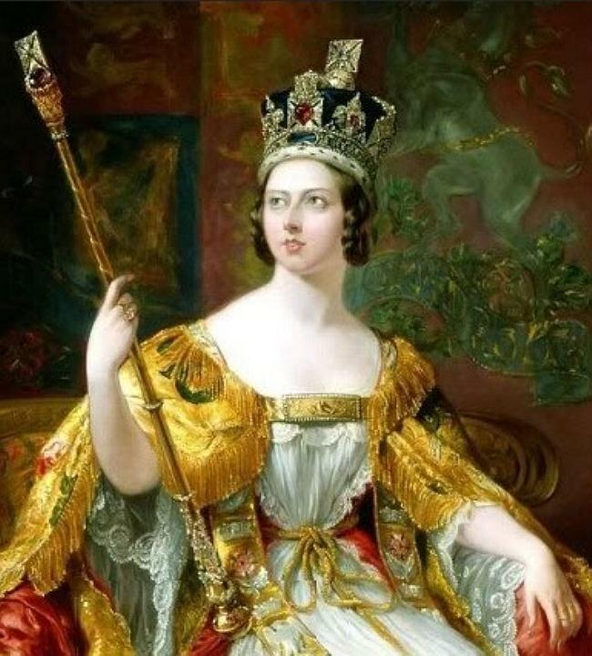 Queen Victoria in her coronation robes, 1860 George Hayter (1792–1871)