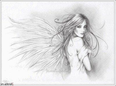 "Предпросмотр схемы вышивки  ""ангел фентази-3 "". ангел фентази-3, девушка, фея, фентази, картина, портрет, красота..."