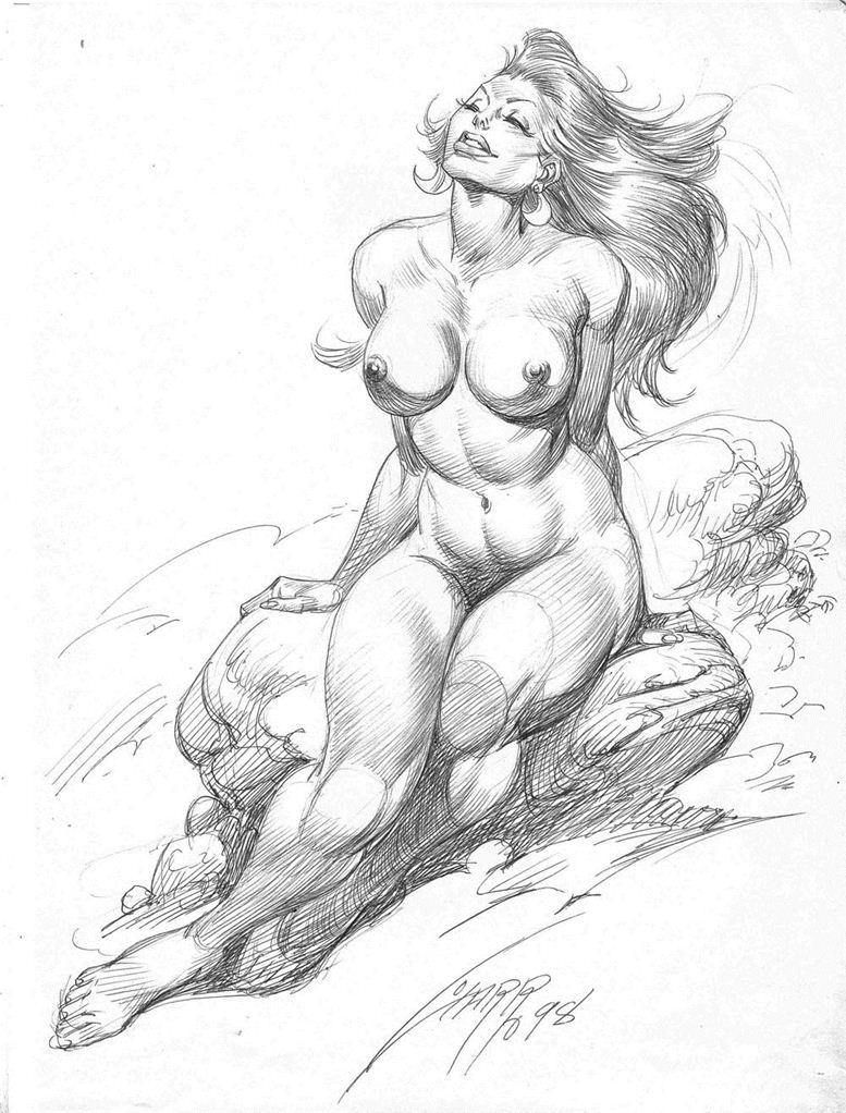 Горячие женщины - Рисунки художника Рафаэля Галлура / Rafael Gallur pictures - Nude