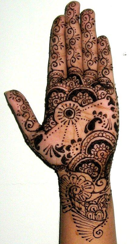 Mehndi - традиционное и современное искусство росписи хной.