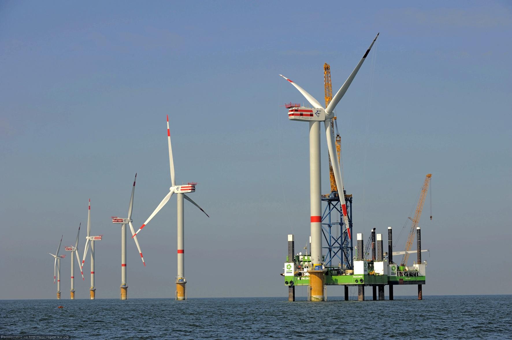 Aufbau Offshore-Windpark Thornton Bank, Belgien
