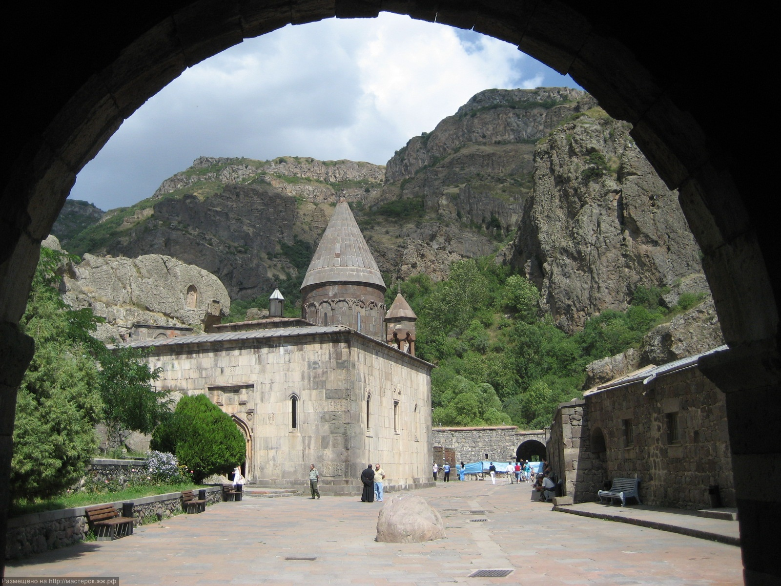 Entrance to Geghard Monastery (UNESCO World Heritage Site)