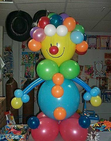 Сделать клоуна из воздушных шаров своими руками