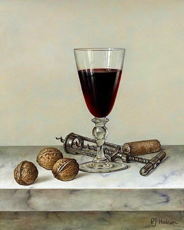 """Оригинал схемы вышивки  """"вино и орехи """" ."""