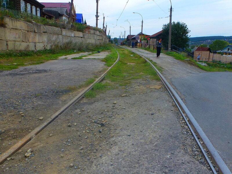 город Усть-Катав: трамвайная линия в Усть-Катаве