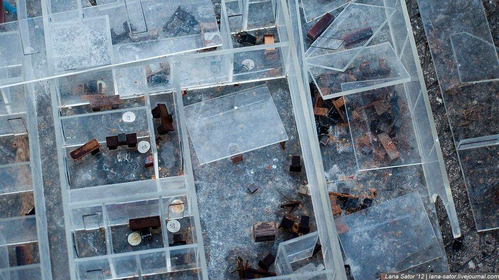 Cementerio de instalaciones militares y aviones en Rusia