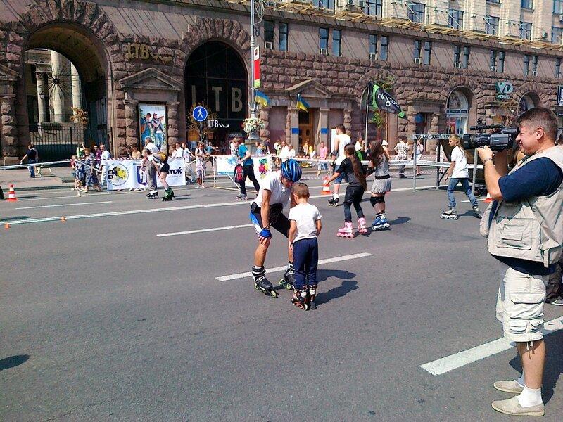 Роллеры на Крещатике в День Незалежности 2012