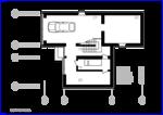 Дача, планировочное решение жилого, каркасно-монолитного строения.  Mod 6х18 5х8. Проект