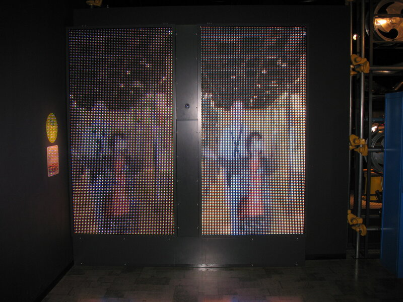 Увеличенный макет LCD-матрицы.