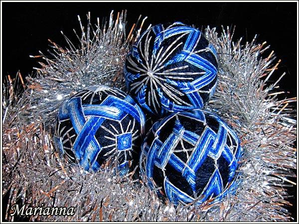 Набор Синий-синий иней - секционная нить
