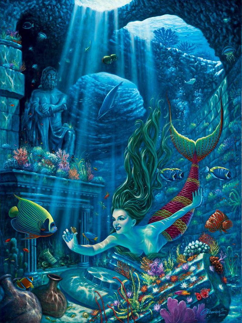 картинки подводного мира или с русалками снять квартиру посуточно