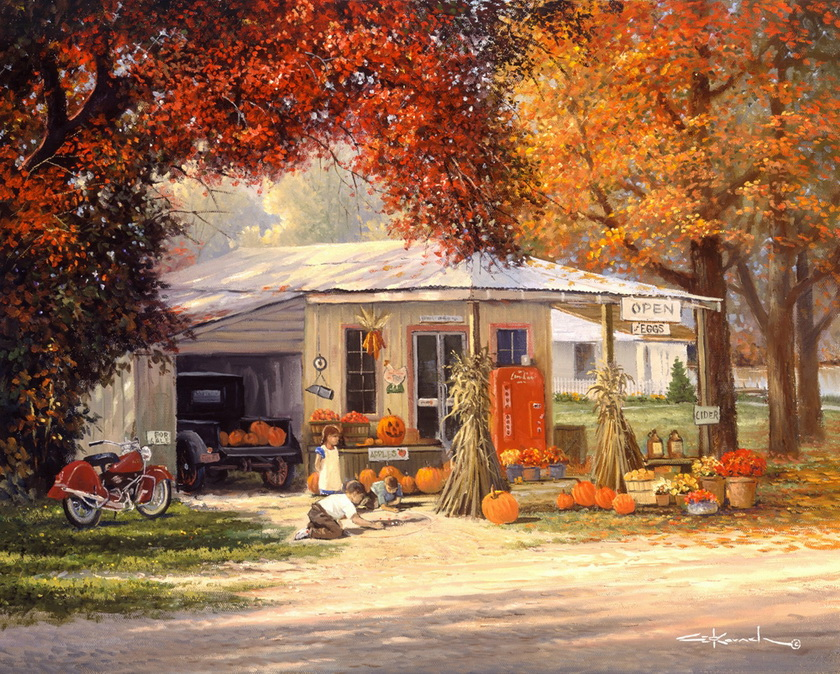 Touching Hearts George Kovach Paintings