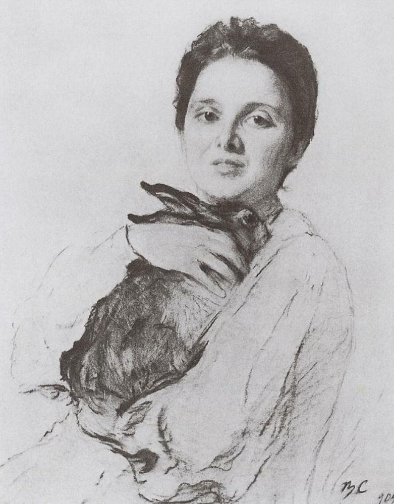 Портрет К.А. Обнинской с зайчиком. 1904