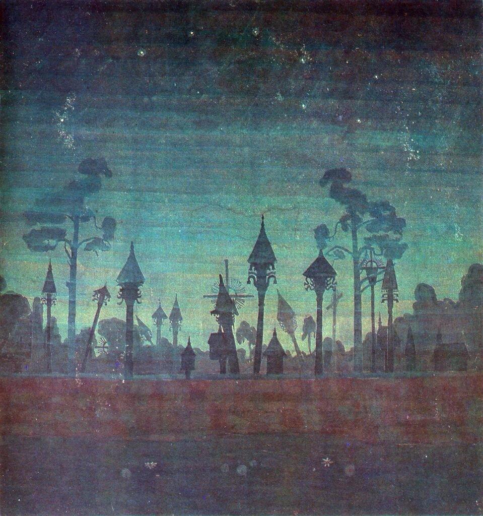 Lithuanian graveyard-1909,Mikalojus Konstantinas Čiurlionis, (1875-1911)