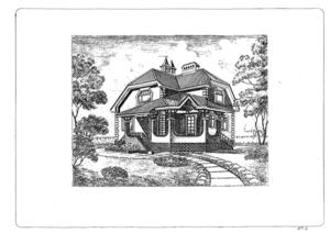 Сканированный проект дома.