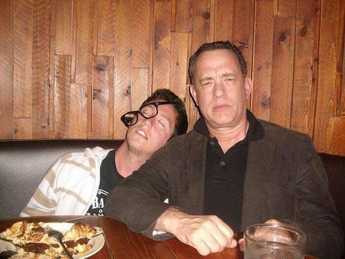 Памятное фото с Том Хэнксом