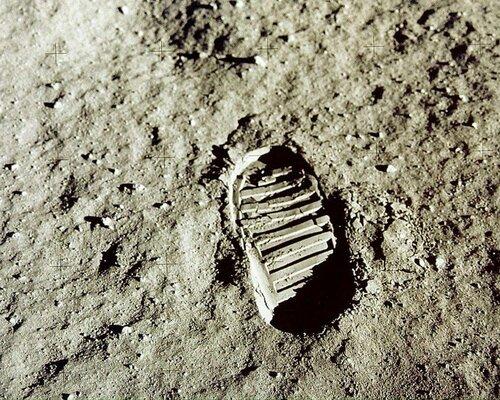 Лунный отпечаток Нил Армстронг, 21 июля july 1969 moon footprint neil armstrong