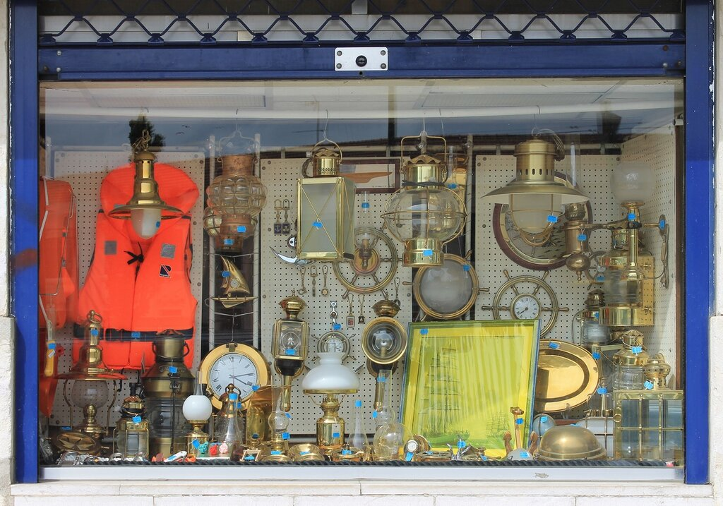 Lisbon, Bica District, marine shop