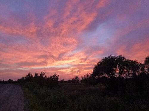 Фото заката в Хинганском Заповеднике