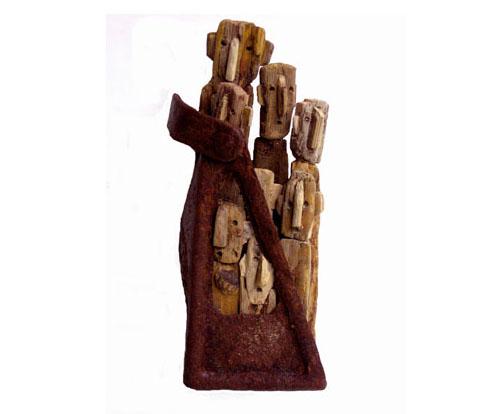 Скульптор Marc Bourlier   Дивный новый мир   Скульптура из морёного дерева