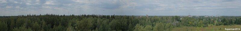 Ликино-Дулёво, вид с крыши заброшенного профилактория