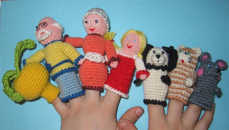 Пальчиковые игрушки своими руками вязаные