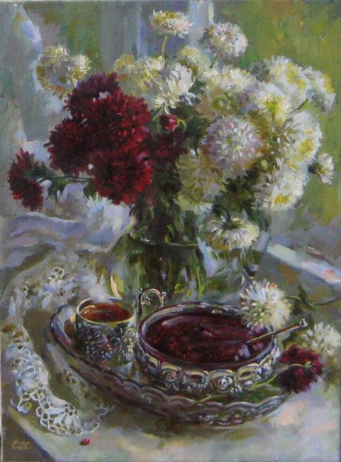 Калиновская Екатерина. Чай с малиновым вареньем