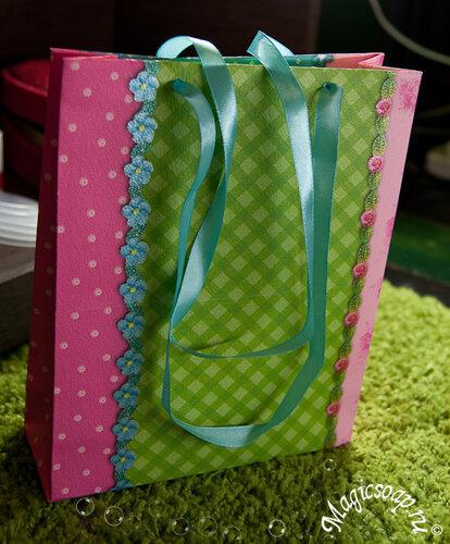 Подарочный пакет схема