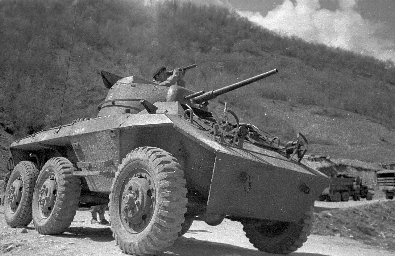 1948. Греческий танкист осматривает местность 22 мая