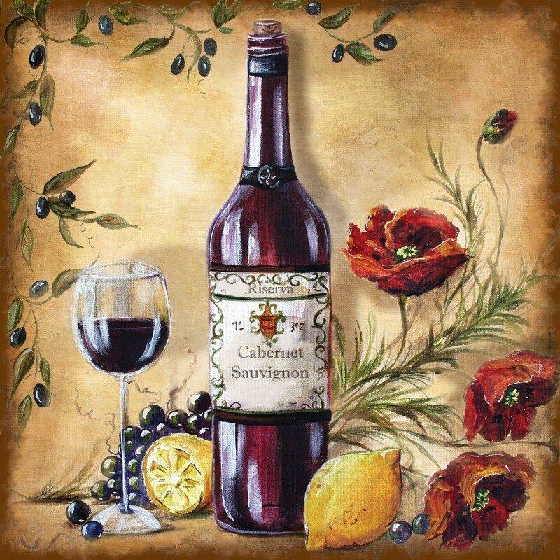 Открытки с цветами и вино, розы