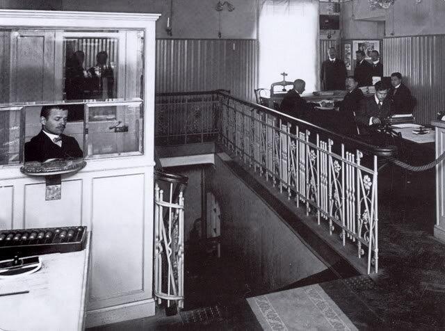 Office of the manufacturing partnership 'Emil Tsindel', 1914. Photo by Karl Bulla.