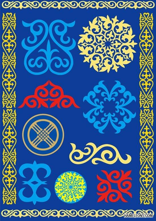 Скачать бесплатно шаблоны казахских орнаментов