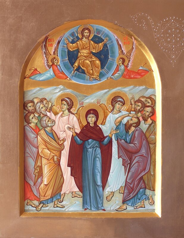 Вознесение Господне. Иконописец Наталия Пискунова.
