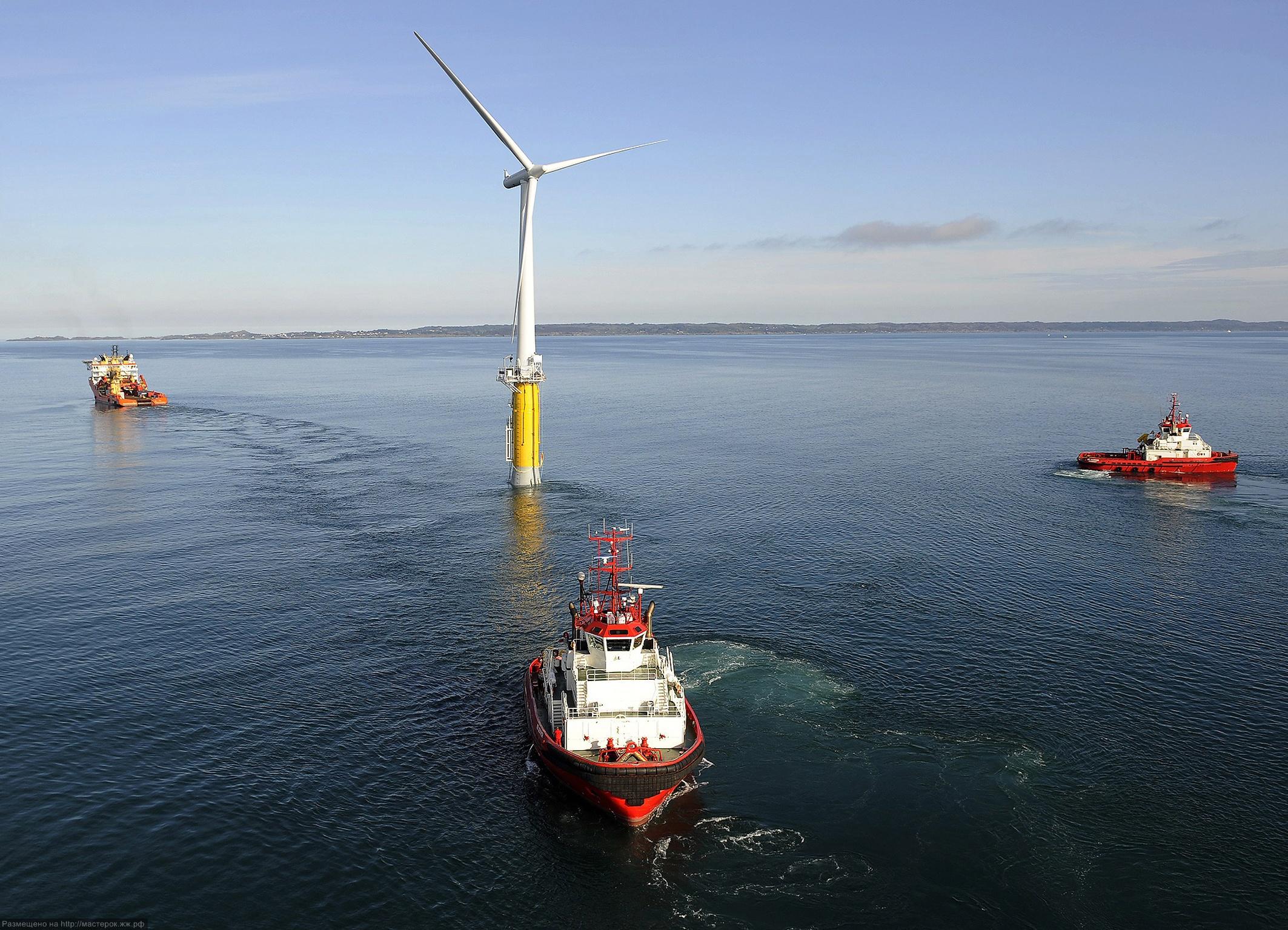 Hywind: Siemens und StatoilHydro installieren erste schwimmende Windenergieanlage / Hywind: Siemens and StatoilHydro install first floating wind turbine