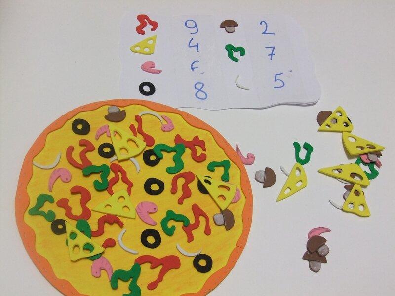 пицца из бумаги своими руками