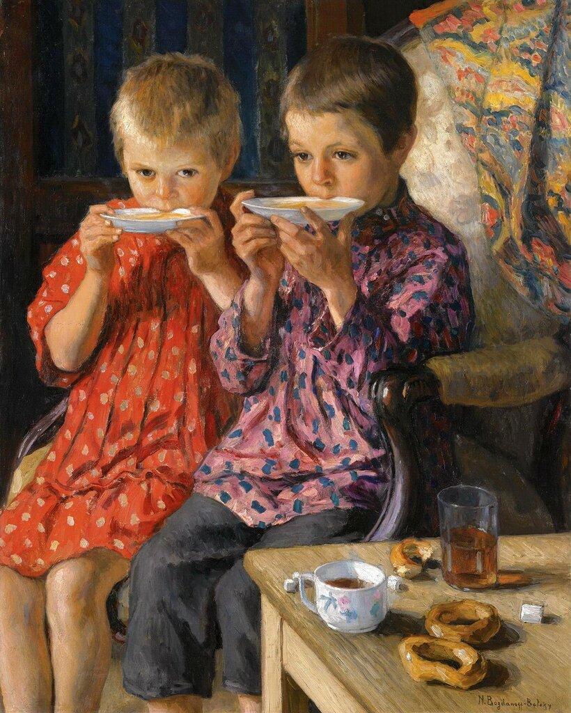 Богданов-Бельский: Посетители Частная коллекция 88х70