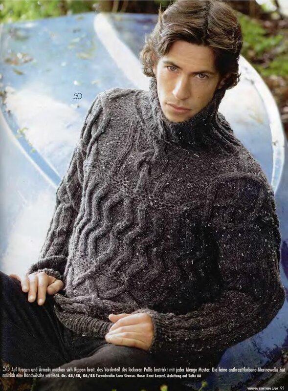шарф хомут схема вязания спицами - Сумки.