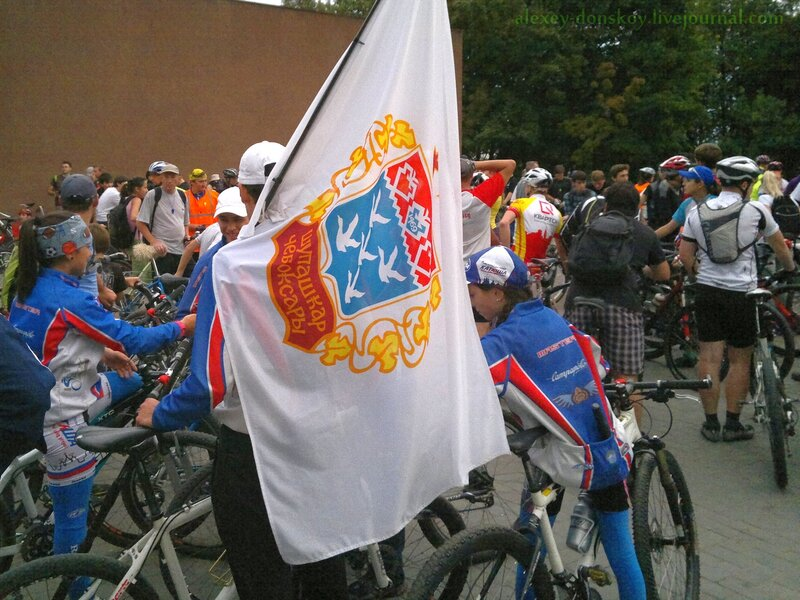Флаг с гербом Чебоксар