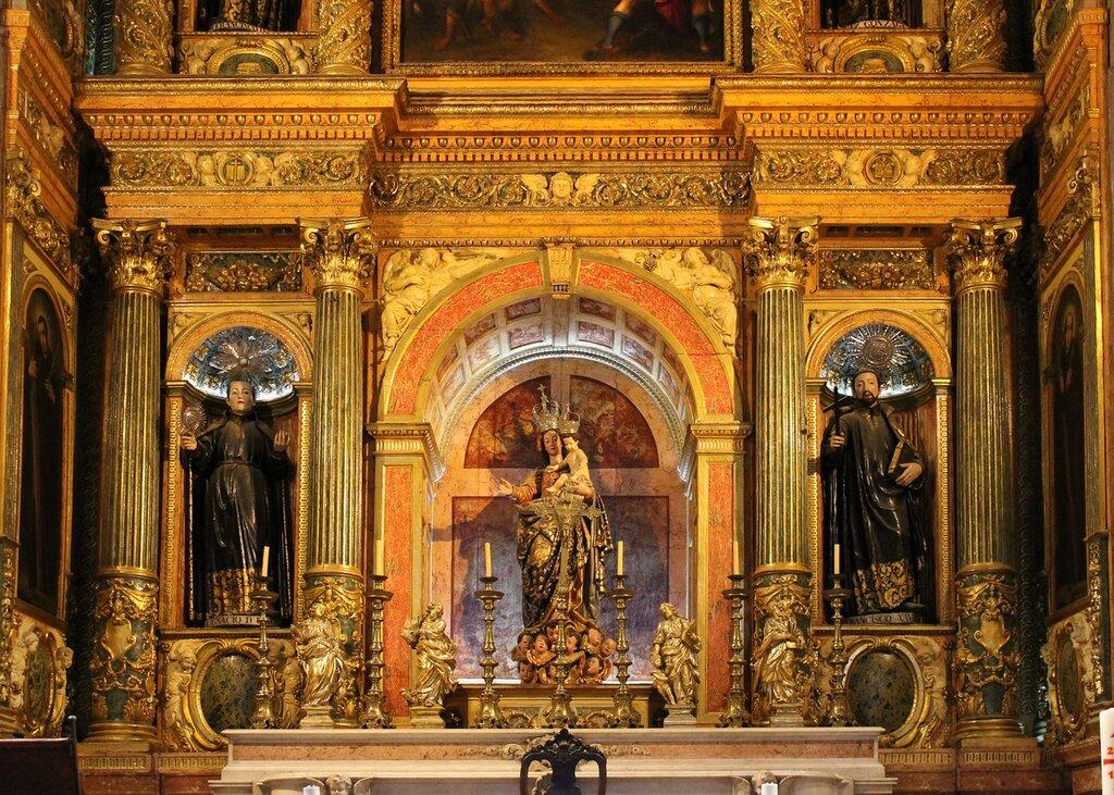 Лиссабон. Церковь Святого Роха, интерьер. Lisboa, Igreja de São Roque, interior
