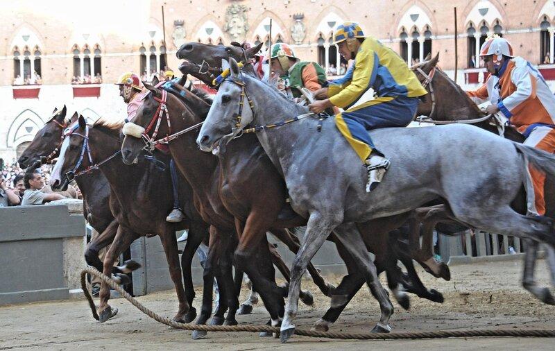 PALIO HORSE RACE IN SIENA