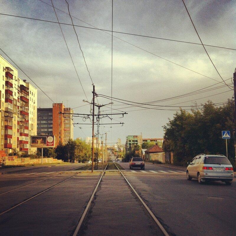 С горки. Российская