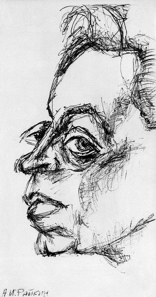 Аркадий Райкин. Рисунок Юрия Богатырева.