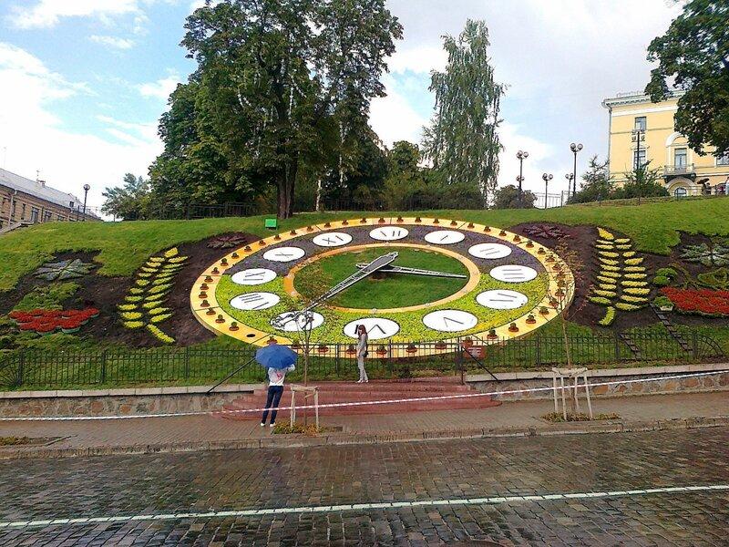 Цветочные часы в августе 2012