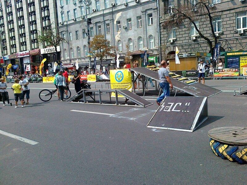 Площадка для велобайкеров на Крещатике