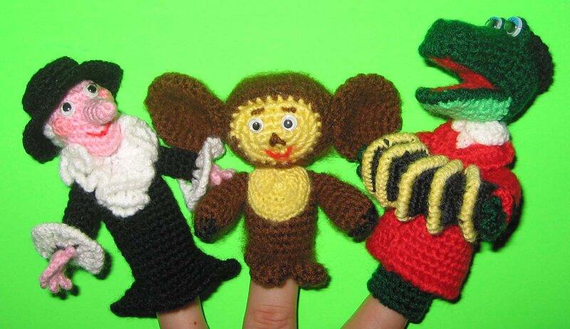 для крючком руками своими игрушки театра кукольного